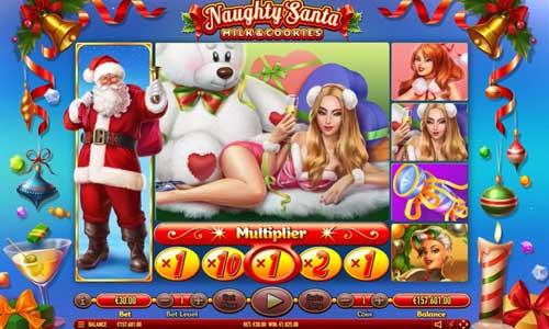 Naughty Santa Videoslot Screenshot