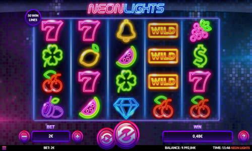 Neon Lights Videoslot Screenshot