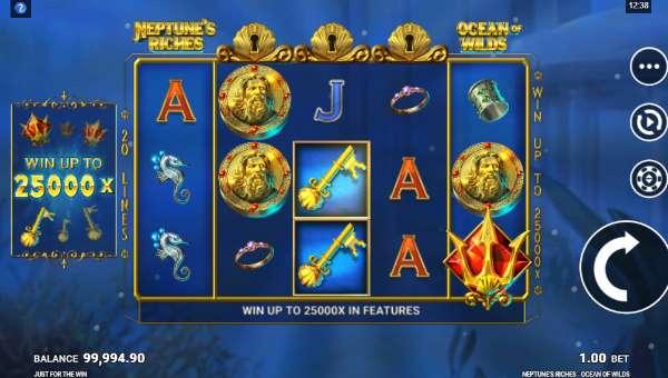 Neptunes Riches Ocean of Wilds Videoslot Screenshot