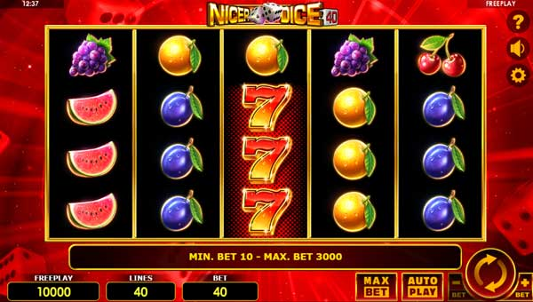 Nicer Dice 40 Videoslot Screenshot