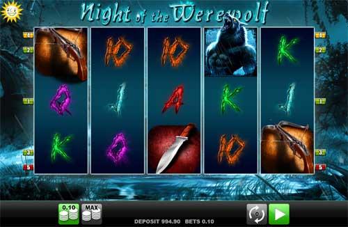 Night of the Werewolf Videoslot Screenshot