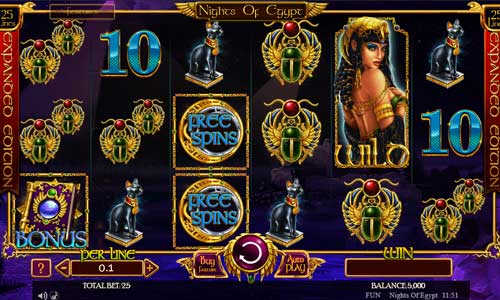 Nights of Egypt Expanded Edition slot