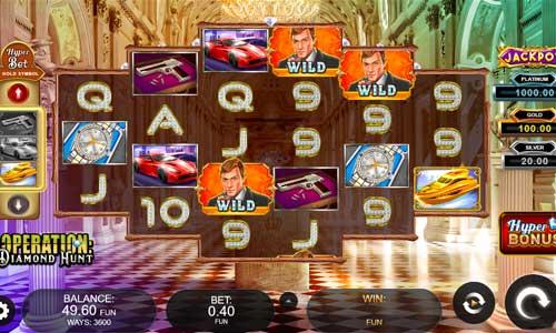 Operation Diamond Hunt Videoslot Screenshot