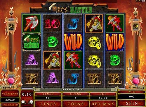 Orcs' Battle Slot Machine - Play this Video Slot Online
