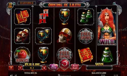 Origins of Lilith slot