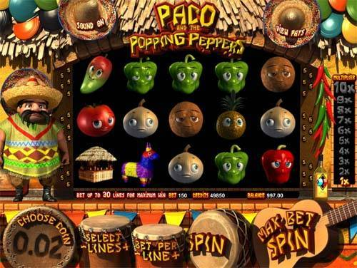 Popping Peppers slot free play demo