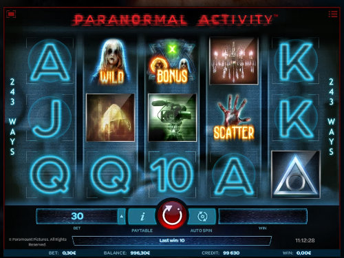 Paranormal Activity slot