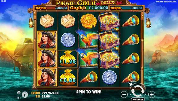 Pirate Gold Deluxe Videoslot Screenshot