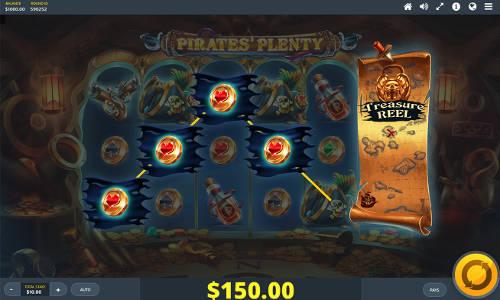 Pirates Plenty The Sunken Treasure Videoslot Screenshot