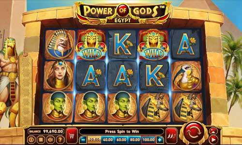 Power of Gods Egypt Videoslot Screenshot