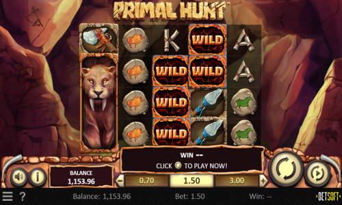 Primal Hunt Videoslot Screenshot