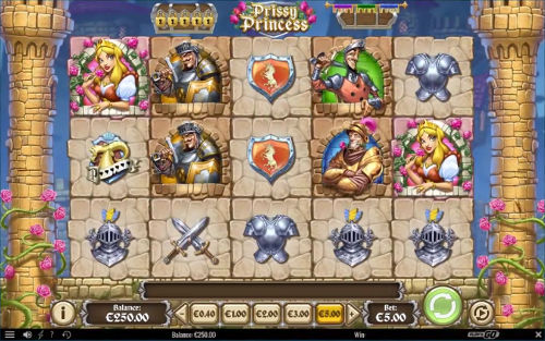 Prissy Princess Videoslot Screenshot