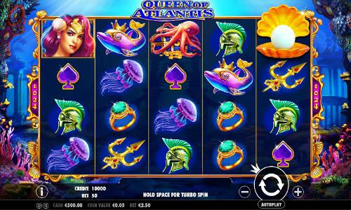 Queen of Atlantis Videoslot Screenshot