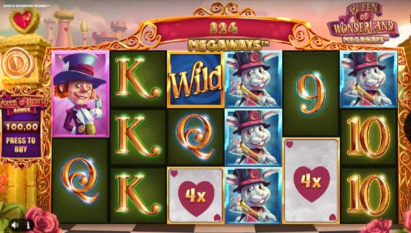 queen of wonderland megaways slot overview and summary