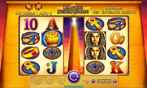 Ra and the Scarab Temple Videoslot Screenshot