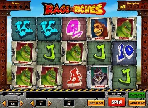 Rage to Riches Videoslot Screenshot