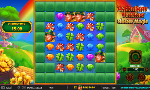 rainbow riches cluster magic slot overview and summary