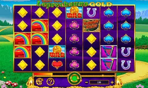 Rainbow Riches Leprechauns Gold Videoslot Screenshot