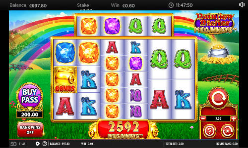 Rainbow Riches Megaways Videoslot Screenshot