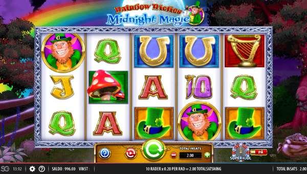 Rainbow Riches Midnight Magic Videoslot Screenshot