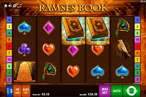 Ramses Book Videoslot Screenshot