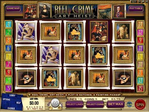 Reel Crime 2 Art Heist slot