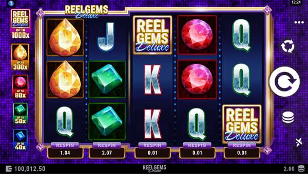 Reel Gems Deluxe Videoslot Screenshot