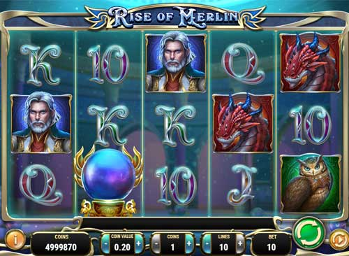 rise of merlin slot review