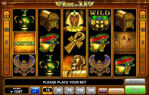 Rise of Ra slot free play demo