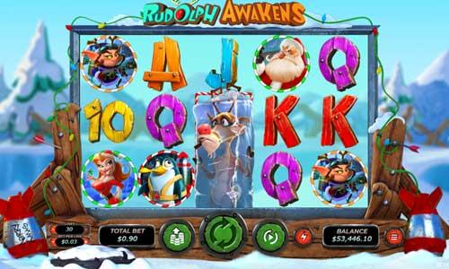 Rudolph Awakens Videoslot Screenshot