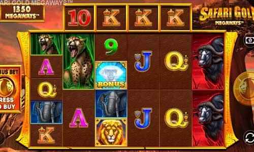 Safari Gold Megaways Videoslot Screenshot