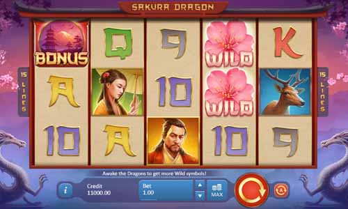 Sakura Dragon slot Playson