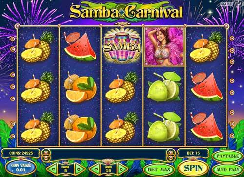 Samba Carnival Videoslot Screenshot