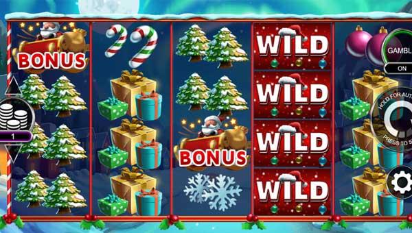 Santa Stacked Free Spins Videoslot Screenshot