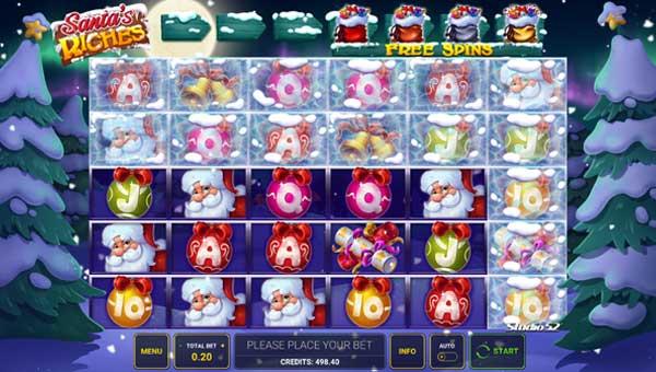 Santas Riches Videoslot Screenshot