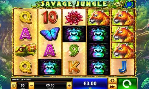 Savage Jungle Videoslot Screenshot