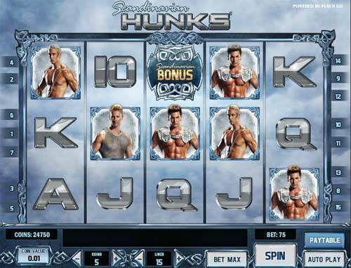 Scandinavian Hunks slot free play demo is not available.