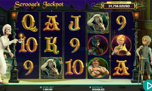 Scrooges Jackpot Videoslot Screenshot