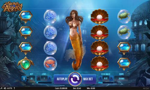 Secrets of Atlantis Videoslot Screenshot
