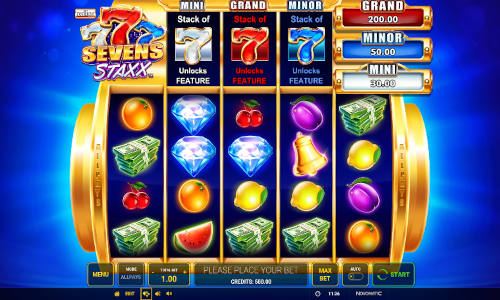 Sevens Staxx slot free play demo is not available.