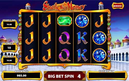 Sheik Yer Money Videoslot Screenshot
