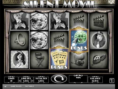 Silent Movie Videoslot Screenshot