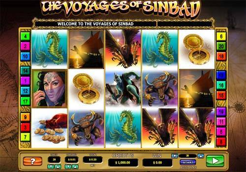 The Voyages of Sinbad Videoslot Screenshot