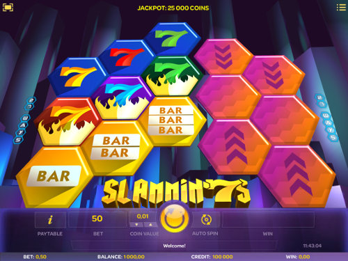 Slammin 7s Videoslot Screenshot