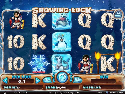 Snowing Luck Videoslot Screenshot
