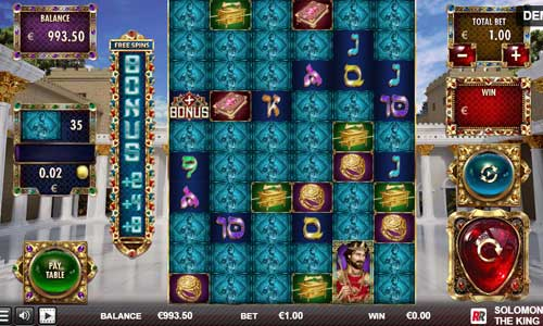 Solomon The King Videoslot Screenshot