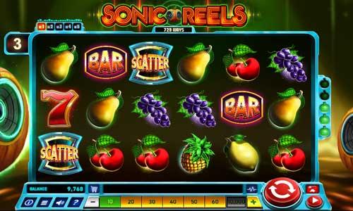 Sonic Reels Videoslot Screenshot