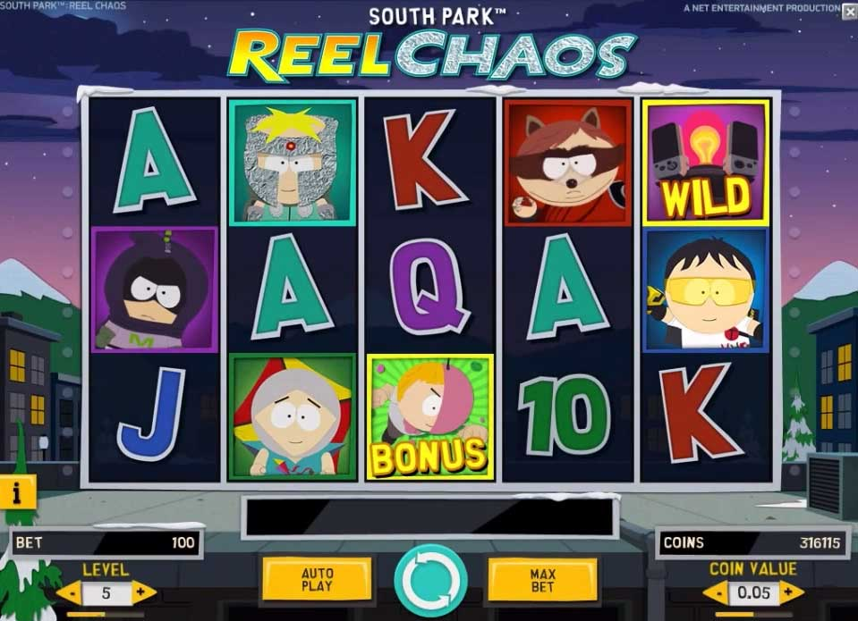 South Park Reel Chaos slot free play demo is not available.