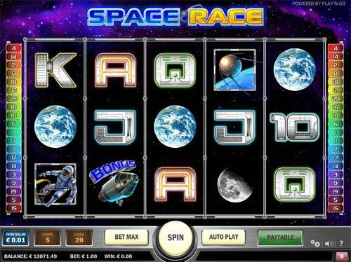 Space Race slot free play demo