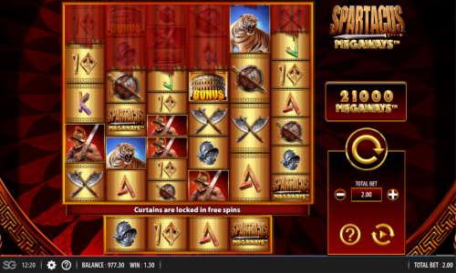 Spartacus Megaways Videoslot Screenshot
